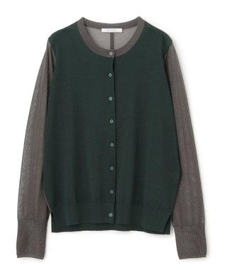 BEIGE, 【S-size】AMIRAT / カーディガン Forest Green × Slate