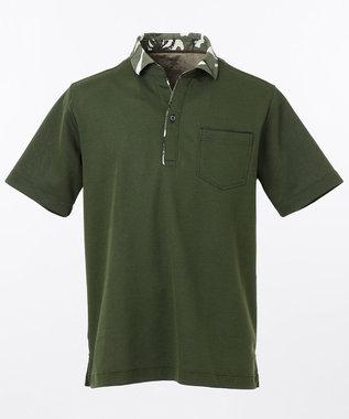 JOSEPH ABBOUD OGクールダディポロシャツ(サファリ柄・チェック柄) カーキ系5