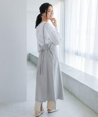 #Newans 【笹川友里さんコラボ】ドレスエプロン グレー系