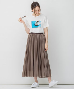 【Sサイズ有】 ライト エコ レザー プリーツ スカート