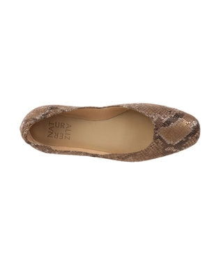 REGAL FOOT COMMUNITY 【ナチュラライザー】フラットシューズ ベージュヘビ柄