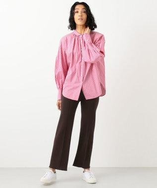 #Newans 【マガジン掲載】AUDREY/イタリアンカラーシャツ(番号NF46) ピンク系1