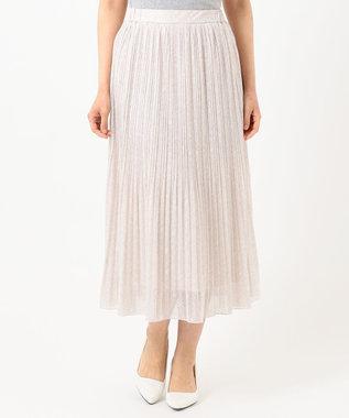 any SiS 【洗える】刺繍風ミニフラワープリント スカート ローズグレー