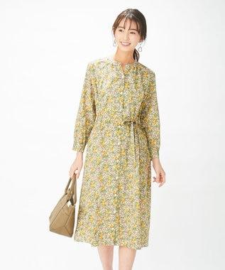 J.PRESS LADIES 【洗える】リバティプリント ワンピース ベージュ系5