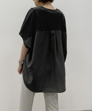 自由区 【UNFILO/撥水・汗シミ防止・接触冷感 】シャツコンビ バックロング UPTシャツ