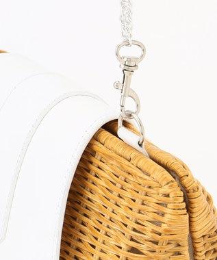 GRACE CONTINENTAL クラッチラタンバッグ キナリ