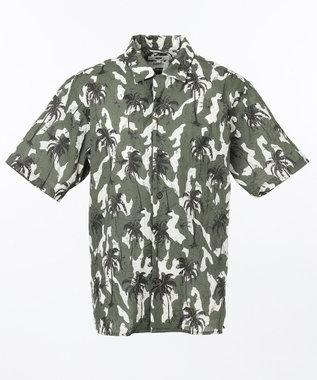 カモフラリーフプリント 半袖シャツ