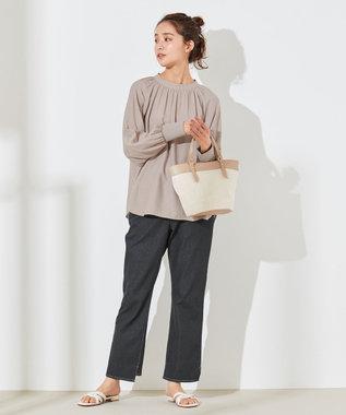 any SiS S 【洗える】カデーレ ブラウス ベージュ系