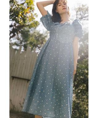 【LOUNGE WEAR】DaisyPrint Onemile dress ドレス