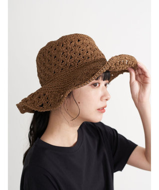 earth music&ecology クロッシェハット Brown