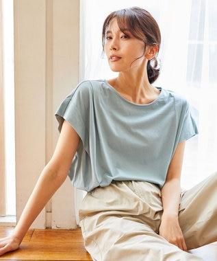 【大ヒット商品】【UVケア・接触冷感】タックTブラウス Tシャツ