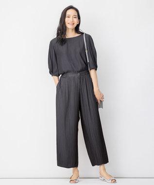 【Sサイズ有】 マットサテン プリーツ パンツ