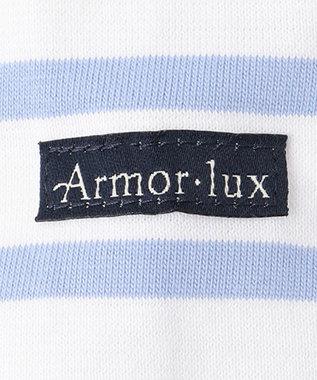 23区 【中村アンさん着用】Armor lux ビッグシルエット TEE(番号2F35) ホワイト×スカイブルー