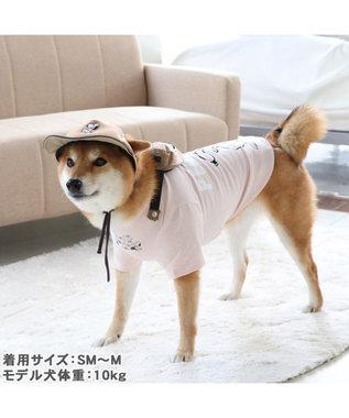 PET PARADISE 犬 服 春 ペットパラダイス スヌーピー お揃い帽子 〔中・大型犬〕 中型犬 大型犬 カーキ