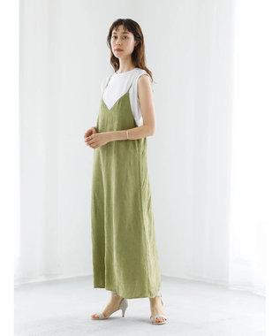 koe ・ジャガードキャミワンピース Green