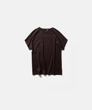 ATON SUVIN 60/2   キャップスリーブTシャツ BURGUNDY