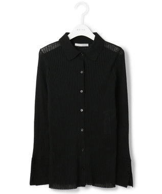 BEIGE, 【S-size】【VERY NAVY 4月号掲載】VICHY / ニットシャツ Black  x Black