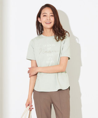 any SiS S 刺繍コンビロゴ Tシャツ スモーキーミント