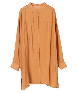 YECCA VECCA マルチwayシルキーロングシャツ Orange
