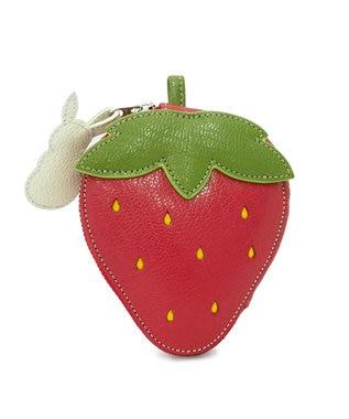 IBIZA フルータス やぎ革 コインケース(いちごとウサギ) 赤