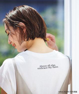 any FAM 【オーガニックコットン】オーガビッツバックロゴ Tシャツ アイボリー系