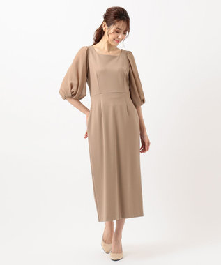TOCCA 【TOCCA LAVENDER】Puff Sleeve Jersey Dress ドレス モカ