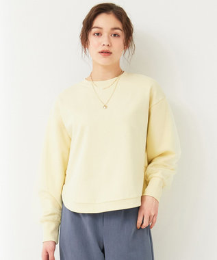 Feroux 【洗える】フェミニン裏毛 スウェット レモン