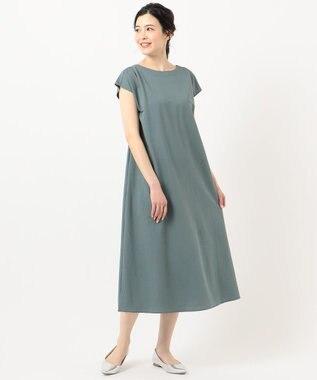 any FAM 【優木まおみ着用】ワッシャーリラックス ワンピース スカイブルー系