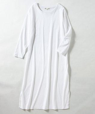 23区 【マガジン掲載】コットン Tシャツ ワンピース(番号R27) ホワイト系