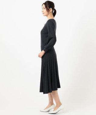 any SiS L 【洗える】フェミニンフレア セットアップ ネイビー