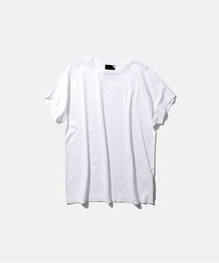 ATON SUVIN 60/2   キャップスリーブTシャツ WHITE
