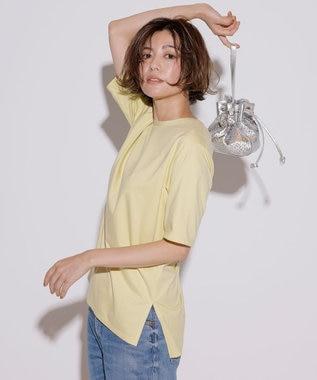 23区 【先行予約】コットンジャージー 5分袖 Tシャツ