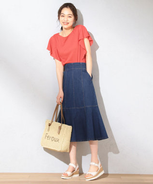 Feroux 【美人百花6月号掲載】アイスキャンディデニム スカート インディゴ