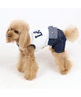 PET PARADISE 犬服 犬 服 ペットパラダイス Lee ウエスポーチ パンツつなぎ 〔小型犬〕 超小型犬 小型犬 白~オフホワイト