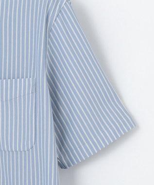 J.PRESS MEN 【J.PRESS PLUS】カノコインレイボーダーパッチポケット BDシャツ サックスブルー系2