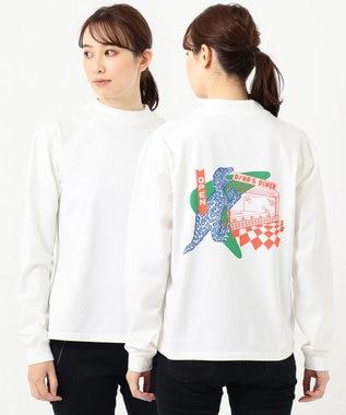 Paul Smith 【WEB&一部店舗限定・洗える】Dino's Diner バックプリント 長袖Tシャツ ホワイト系