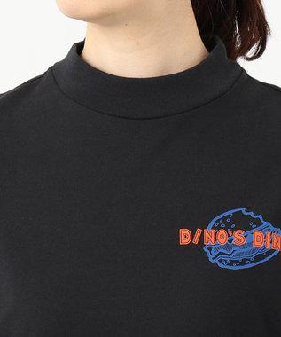 Paul Smith 【WEB&一部店舗限定・洗える】Dino's Diner バックプリント 長袖Tシャツ ブラック系