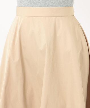 組曲 【Rythme KUMIKYOKU】フレアタフタ スカート ベージュ系
