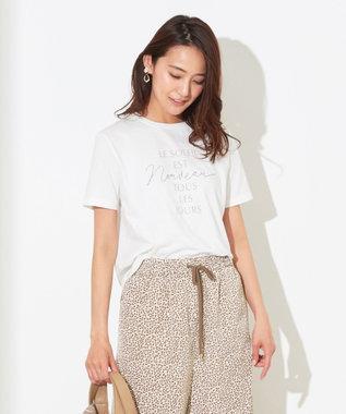 any SiS S 刺繍コンビロゴ Tシャツ オフホワイト