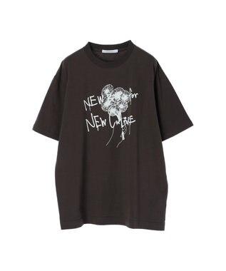 koe プリントTシャツ Dark Gray