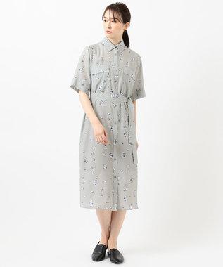 JOSEPH 【JOSEPH STUDIO・洗える】キュビズムプリント シャツドレス ダルブルー系5