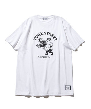 J.PRESS YORK STREET 【UNISEX】ブルドック カレッジ Tシャツ ホワイト系