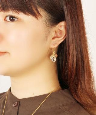 WYTHE CHARM 【特別な日に送るアクセサリーセット】クリスタル×天然石ミックスピアスセット ピンク