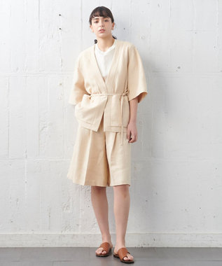 JOSEPH 【JOSEPH STUDIO】スムースリネン ハーフパンツ ライトオレンジ系
