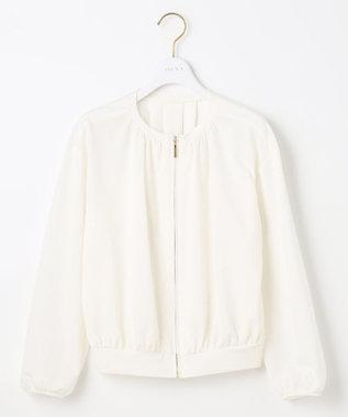 any SiS L 【洗える】カットライクシャツ ブルゾン ホワイト系