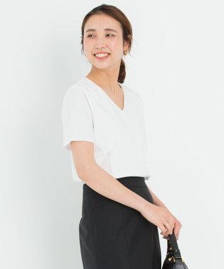 【洗える】DOUBLE SMOOTH Vネック Tシャツ