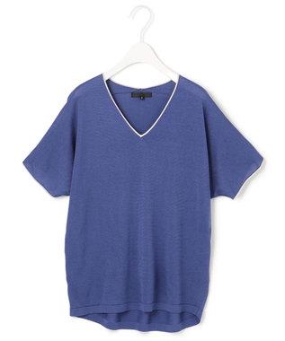 ICB 【WEB限定カラーあり】Synthetic Yarn 半袖 ニット ブルー系