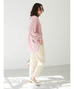 Green Parks <抗菌・防臭機能>Vネックとろみシャツ Pink