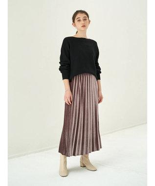 YECCA VECCA ・ベロアプリーツスカート Mocha