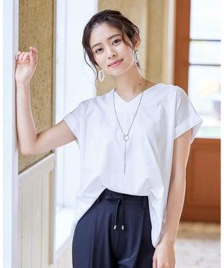 Tiaclasse 【洗える】さらりとした着心地のバイオシルケットTシャツ オフホワイト